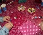 Kinderfeestje zeepektting maken