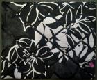 Memobord zwart wit bloemen