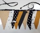 Vlaggenlijn Mosterd Geel en Zwart/Wit