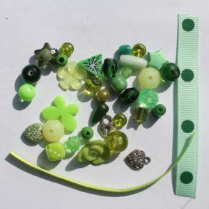 DIY Armbandje groen