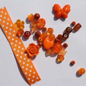 DIY Armbandje oranje