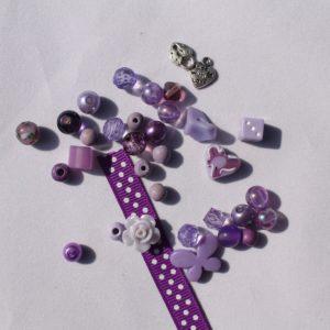 DIY Armbandje paars