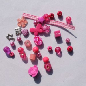 DIY Armbandje roze