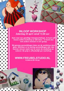 Flyer van de inloopworkshop april 2020