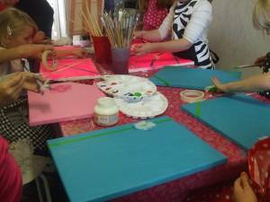 Kinderfeestje schilderen