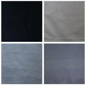 Zwart, grijs en blauw stof