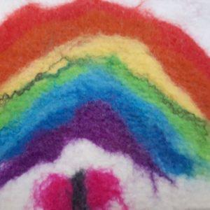 Voorbeeld schilderen met wol